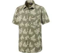 'Hot Chili Tropical' Kurzarmhemd Herren khaki