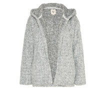 Strickjacke 'stay Cozy' graumeliert