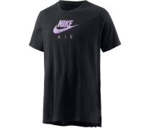 T-Shirt helllila / schwarz