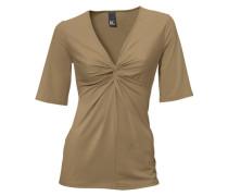 Knotenshirt beige / braun