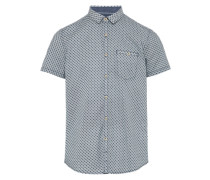 Hemd 'patterned summery' grau