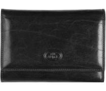 Story Donna Damen-Geldbörse Leder 18 cm schwarz
