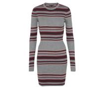 Pulloverkleid im Stripes-Look graumeliert / altrosa / weinrot / schwarz