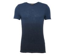 T-Shirt 'RN Yarndyed Dip' dunkelblau