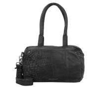 'Freebie' Handtasche Leder 31 cm schwarz