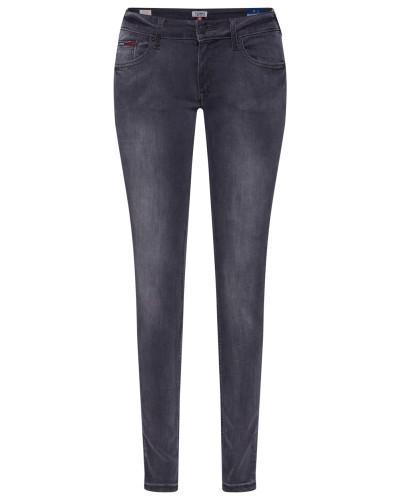Jeans 'sophie' grey denim / schwarz