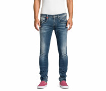 Jeans im Used-Style 'Anbass' blau
