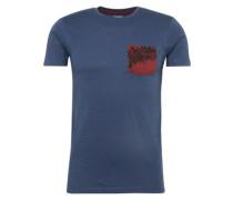 T-Shirt 'cn slub pkt ss' navy