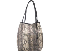 Mila Hawaii Shopper beige / grau