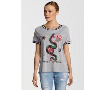 Shirt Snake grau