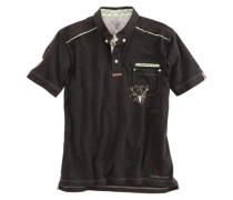 Trachten-Poloshirt Herren schwarz
