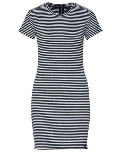 Kleid'EVIE' navy / weiß