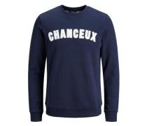 Klassisches Sweatshirt navy / weiß