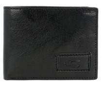 Geldbörse 'Panama' aus Leder 11 cm schwarz