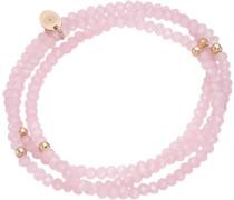 Armband zum Wickeln mit Kristallsteinen rosegold / rosa