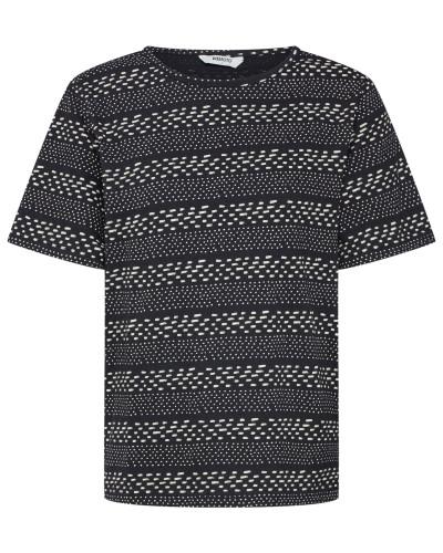 Shirt 'Holden Printed' schwarz / weiß