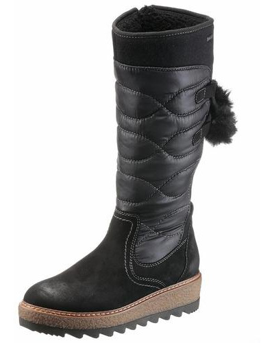 Wattierter Stiefel schwarz
