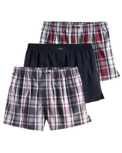 Boxershorts (3 Stück) grau / rot / schwarz / weiß