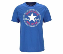 T-Shirt marine / hellrot / weiß
