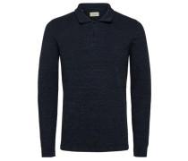 klassisches Poloshirt nachtblau / perlweiß