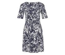 Ausgestelltes Stretch-Kleid blau