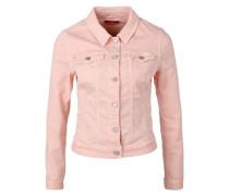Stretchige Colored Denim-Jacke rosa