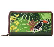 Jungle Geldbörse Leder 20 cm grün