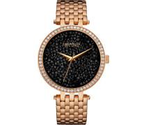 Armbanduhr »Crystal Rock« gold / schwarz