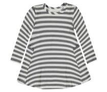 Kleid mit Streifen dunkelgrau / weiß