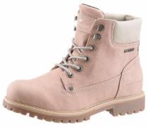 Schnürboots im Worker-Look creme / rosé