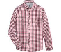Trachtenhemd im Karodesign mischfarben / rot