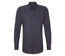 Modern Fit: Hemd mit Minimalmuster blau