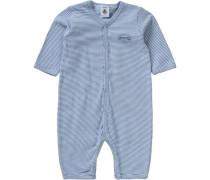 Baby Schlafstrampler für Jungen blau / azur / himmelblau