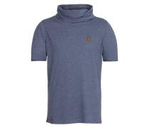 T-Shirt 'Glatze ohne Mütze' blau