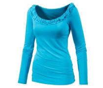 Langarmshirt Damen blau