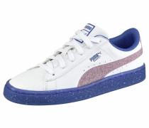 Sneaker 'Basket Iced Glitter 2 junior' royalblau / helllila / weiß