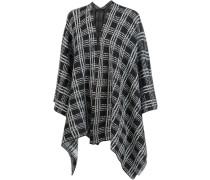 Poncho mit Muster schwarz