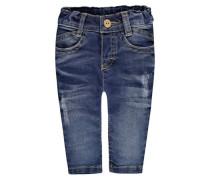 Jeans mit Used-Elementen blau
