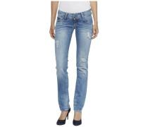 "Jeans ""low Rise Straight Viola Mbbd"" blaumeliert"