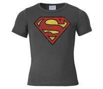 T-Shirt Superman gelb / dunkelgrau / rot