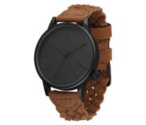 Armbanduhr 'Winston' cognac / schwarz