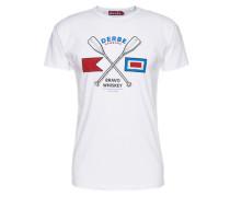 T-Shirt 'Paddle' weiß