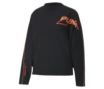 Sweatshirt 'Evide' schwarz / orange