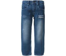 Jeans Slim für Mädchen dunkelblau
