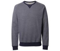 O-Ausschnitt-Sweatshirt blau