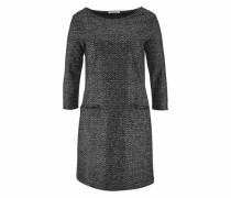 Winterkleid mit Muster grau