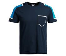 Sport-inspiriertes-T-Shirt blau