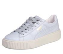 Platform-Sneakers 'Patent' hellblau