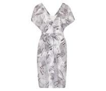 Kleid mit grafischem Muster schwarz / weiß