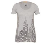 BOSS ORANGE T-Shirt mit Print grau